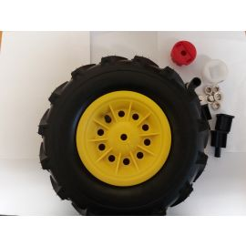 Rolly Toys Vordrerrad Ersatzrad Links Luftbereifung mit Felge gelb für Rolly Toys Tracs Traktoren und Unimog