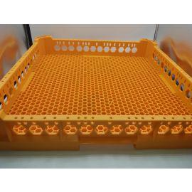 Besteckkorb orange L 500mm B 500mm H 100mm Maschenart feinmaschig