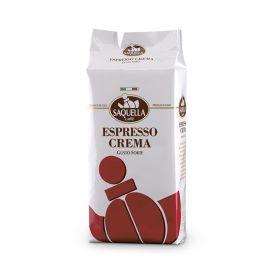 Saquella Espresso Crema Bar 1 Kg cremig voller Geschmack ganze Bohne