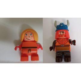 Big Figuren Halvar und Ylvie aus Waterplay oder einfach so zum Spielen verbaubar mit bekannten Spielsteinen
