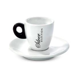 Saquella Espressotasse Silver Line plus Unterteller