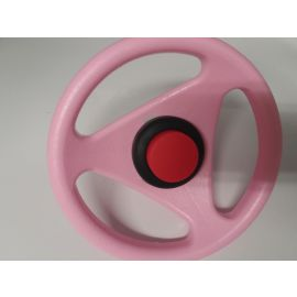 Big Bobby Car Originalersatzlenkrad Classic rosa pink Flamingo mit Hupe