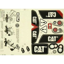 Rolly Toys Stickers Aufkleber für rollyDigger CAT