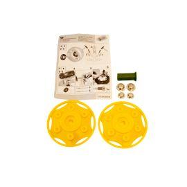 Rolly Toys zwei Traktorblenden gelb mit Hutclips