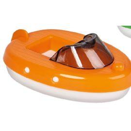 Aquaplay 1 Boot Containerboot für Wasserbahnen oder zum Spielen am Strand, im Garten oder der Badewanne orange