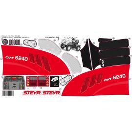 Rolly Toys Aufklebersatz für Trettraktor STEYR CVT 6240