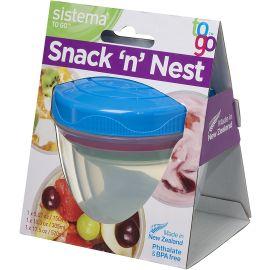 Sistema Aufbewahrungsdosen SnacknNest 3er-Set, Kunststoff, Mehrfarbig, 150 ml, 305 ml, 520 ml blau