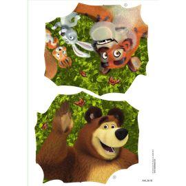 Smoby Ersatzteil AAL3618 Aufkleber Sticker Mascha  für Smoby Rutschen, Spielhäuser und Spielcenter