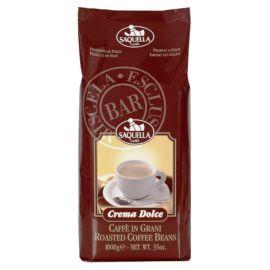 Saquella Caffe Crema Selezione Exclusiv Bar  Crema Dolce 1 Kg ganze Bohne nussfarbene Crema, delikat im Geschmack
