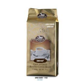 Saquella Espresso Oro Bar Dekaf entkoffeiniert exkl. Ausleese, intensives Aroma 1 Kg ganze Bohne