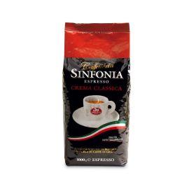 Saquella Espresso Sinfonia Crema Classica Aromatisch und stark mit einer leichten Schokoladenote 1 Kg ganze Bohne