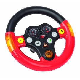 BIG 800056459 - Bobby cars, Zubehör Verkehrssounds Wheel, schwarz, rot