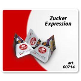 Saquella 50 Stück Expression Zuckertütchen im Pyramiden Sachet je 5 g