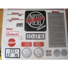 Big Aufklebersatz Sticker Eicher Diesel (Spielzeug) Ersatzteil, Zubehör
