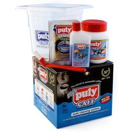 Puly Caff Pflegeset mit Wanne, Puly Caff Pulver, Puly Caff Milk, Bürste