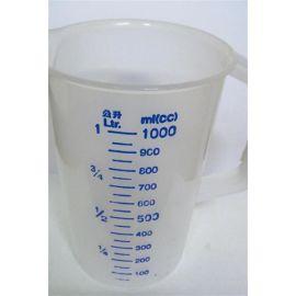 Messbecher 1 Liter aus Kunststoff mit Henkel