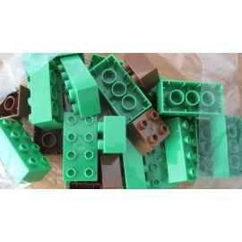 BIG Zubehörbeutel Waterplay grüne und braune Bausteine Bloxx