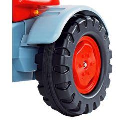 Big Hinterrad Ersatzrad links mit Felgeund Laufring  rot für Big Traktoren Eicher Diesel und Fendt