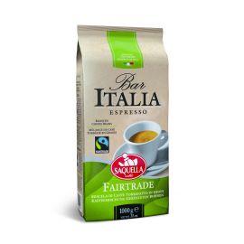 Saquella Fair Trade Espresso aromatisch, stark, leichten Schokoladennote 1 Kg ganze Bohne