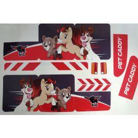 Big Stickersatz Aufkleber für Big Bobby Car Trailer Pet Caddy