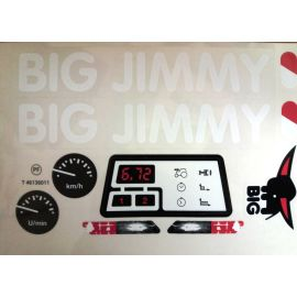 Big Stickersatz Aufkleber für Big Jimmy Traktor